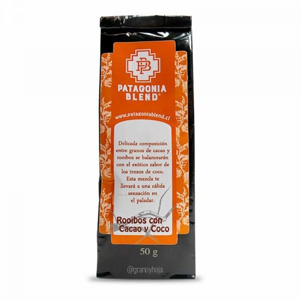 Té Rooibos Cacao y Coco 50grs Patagonia Blend