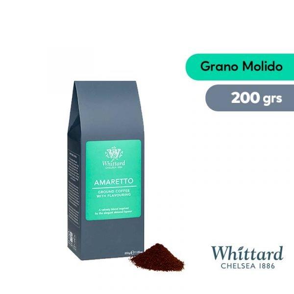 cafe whittard amareto, aroma almendra de 200 gramos