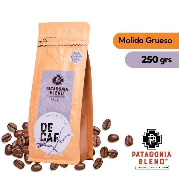 Café Descafeinado Grano Molido Grueso 250grs