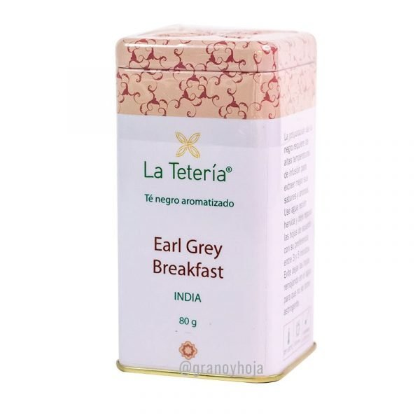 Té Negro Earl Grey Breakfast India 80grs La Tetería