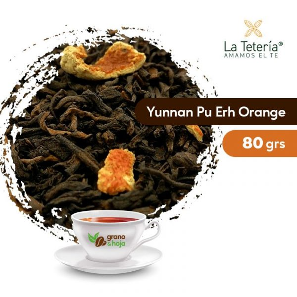 Té Rojo Yunnan Pu Erh Orange 80grs