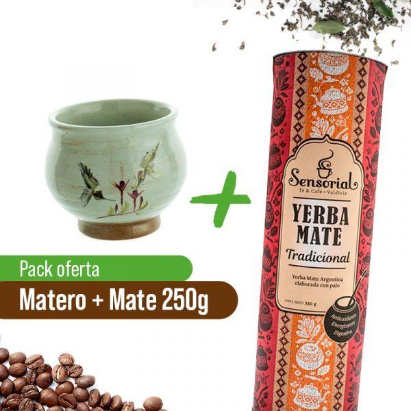 Matero + Yerba Tradicional 250grs Sensorial