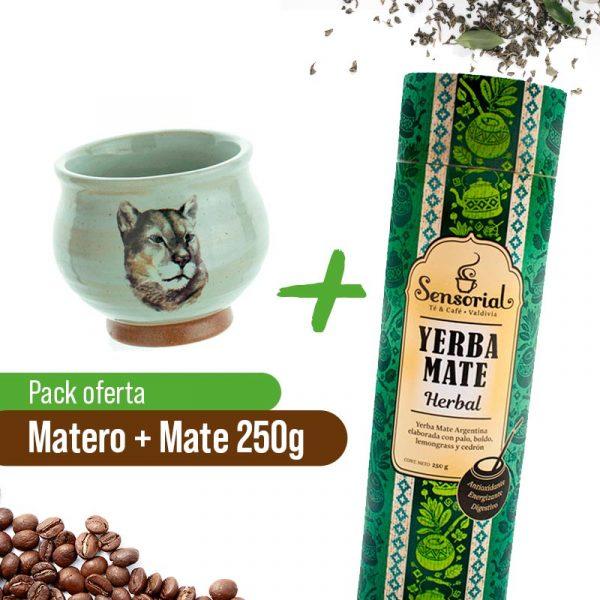 Matero + Yerba Herbal 250grs Sensorial