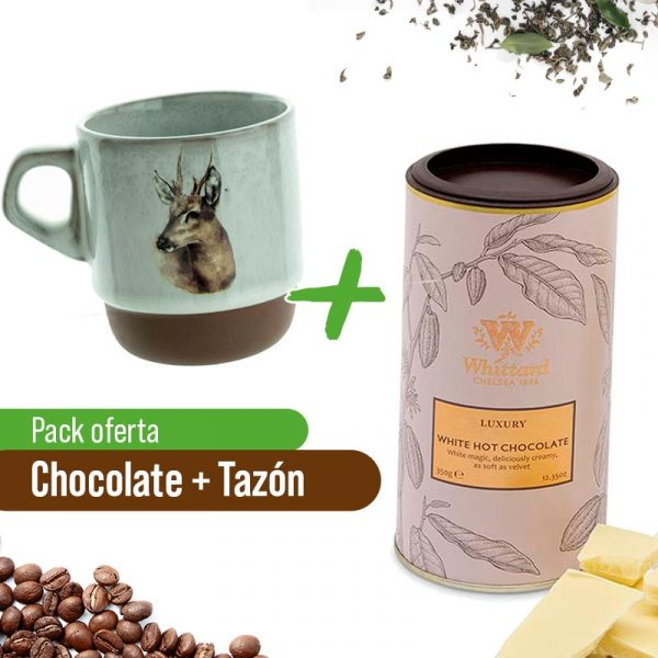 Taza + Chocolate Caliente Blanco Whittard