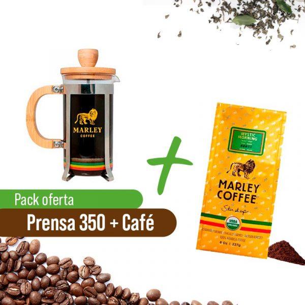 Prensa 350ml + Café Marley Coffe