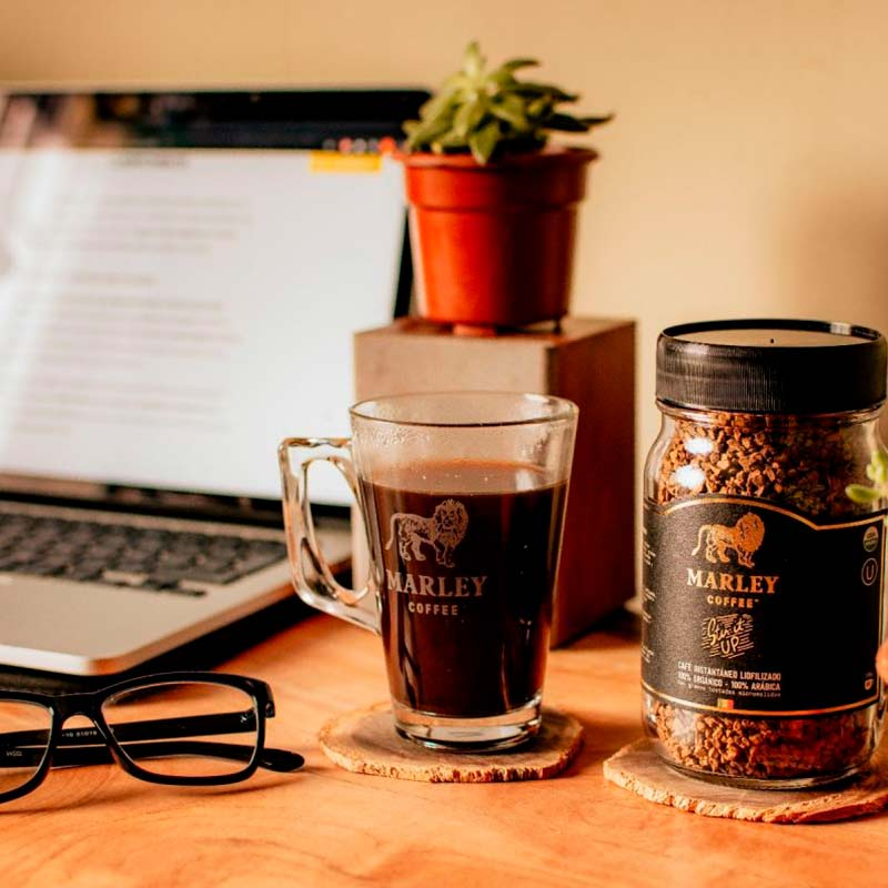 Mug de vidrio 250ml Marley Coffee